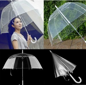 Big Pvc Clear Cute Bubble Deep Dome Handle Umbrella Gossip Girl Wind Resistance Kids Adult Household Sundries Umbrellas DHL free