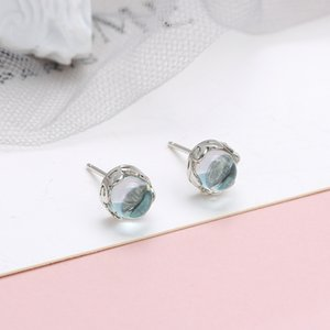 한국어 새로운 귀걸이 모든 경기 작은 신선한 귀걸이 S925 스털링 실버 액세서리 공주 귀걸이 눈물