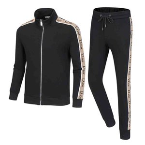 2020 Men Running Tracksuit Sweat Suits see Autumn Mens Fashion Tracksuits Jogger Suits Jacket Pants Sets Sporting Suit Print men sportswear