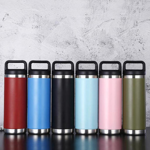 18oz Handle Stainless Steel Cup 6 Colors Double Wall Vacuum Beer Kettle Flasks Outdoor Camping Sport Bottles LJJO8201