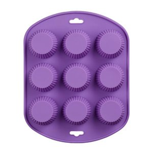 1 Pc 9 Holes Muffin Cake Mold Silicone Cake Mold 3D Handmade Cupcake Jelly Pudding Cookie Mini Muffin Cupcake Mold H912