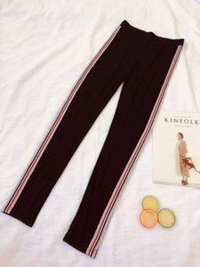 Pantalones Mianziduo 2020 nuevas mujeres de la moda de primavera y verano de rayas de alta elasticidad de envío gratis rojo y azul de algodón polainas pijamas