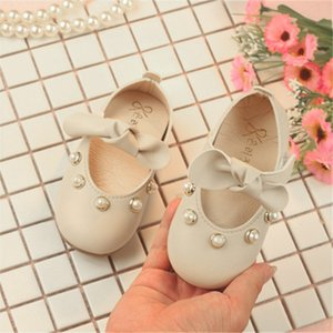 Wedding Party Floral Kids Baby Girl Shoes Elegant Bowknot Pearl Princess Casual leather Shoe chaussure enfant fille schoenen