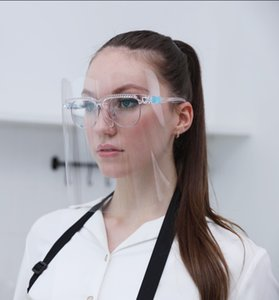 Новые приходят модели Wave Goggle Shield многоразовый Face Shield носить очки лица Visor Transparent Anti-Fog Film Защищать глаза и лицо