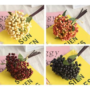 Artificial Berries Green Bean Foam Flowers Small Floral Fake Fruit Artificial Plants Branch Home Decoration Accessories