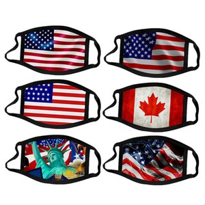 100+ de style Masques Trump Supplies Election américaine Imprimer Masque Anti-poussière universel pour les hommes et les femmes américaines Bouche moufles Masque réutilisable