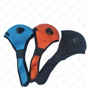 Men Women Designer Face Mask with Double Breather Value and one Filter Outdoor Cycling Anti Dust Haze Mouth Cover Masks Hot SALE DHL D7716