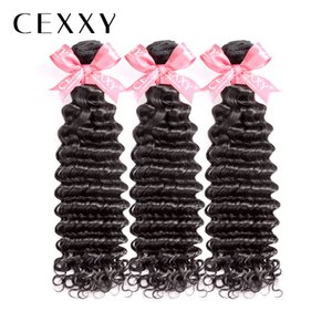 "OneCut Hair Deep Wave 8""-30 Inch P Malaysian Remy Hair Natural Color 3PCS 100% Human Hair Weave Bundles 34 Inch Bundles"