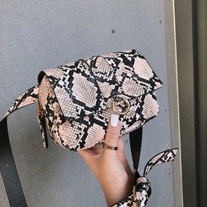 بو الأفعى زر الكتف والجلود الفاخرة النساء طباعة أكياس الصدر الخصر serpentine crossbody حزم سستة حقيبة صغيرة حقيبة 2020 NMPKO