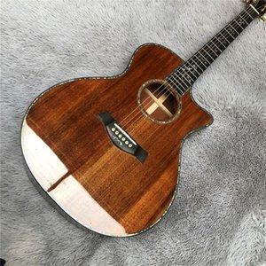 Abalone Kesit Koa Wood 916 Halk Gitar, Abanoz Klavye Chaylor 916 Koa Halk Gitar Ücretsiz Kargo