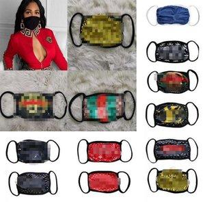 18style wholesale fashion unisex face masks washable breathable luxury designer mask trendy print reusable windproof anti-dust cycling masks
