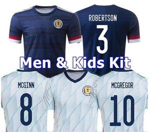2020 Fußball Trikots Schottland 2021 ROBERTSON FRASER Fußballhemd Satz NAISMITH MCGREGOR CHRISTIE FORREST McGinn Herren Kinder Kit Uniformen