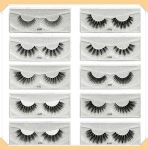 3D Mink Eyelashes Eye makeup Mink False lashes Soft Natural Thick Fake Eyelashes 3D Eye Lashes Extension Beauty Tools 10 styles DHL