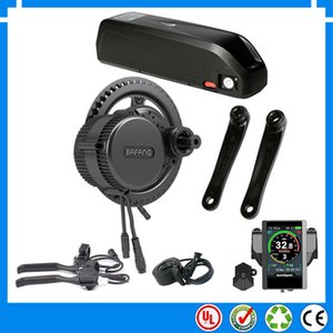 EU US No tax New bafang BBS02B 36v 500w mid central crank motor electric bicycle conversion kit with 15.6ah lithium battery