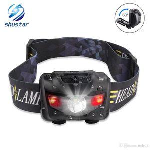 Shustar Mini HeadLamp 4 light Modes Waterproof R3+2 LED Super Bright Headlight Headlamp Torch Lanterna with Headband Use 3xAAA batterys