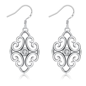Leaf Shape Inlaid Crystal Dangle Earrings for Girl Women Long Drop Fashion Jewelry Bridal Earring Best Gift for Gril Friend ps0697