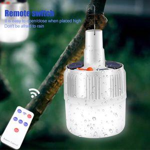 Lâmpada LED recarregável lâmpada solar da carga portátil de emergência Night Market luz ao ar livre Camping 5Model Hanging Night Light EUA plug