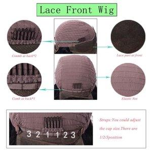 크메르어 인간의 머리 가발 글루리스 여성 천연 컬러 버진 헤어 가발에 대한 스트레이트 레이스 프런트 가발