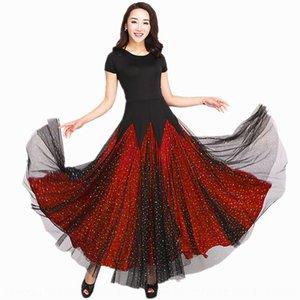 Modern big dress skirt ballroom dress national standard dance big swing skirt Waltz cruising dance
