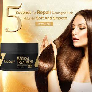 60 мл Keraswell Magic Keratin Маска для волос Ремонт поврежденных корней волос за 5 секунд