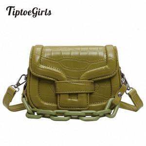 Tiptoegirls Женщины сумки на ремне Поддельный Джейд Цепи украшения Сумка плеча камень шаблон Bolso Mujer MJc0 #