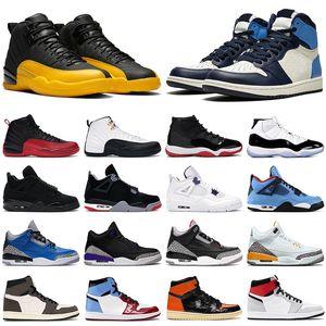 nike air jordan retro 1 basketball shoes Scarpe da basket da uomo jumpman 1s Obsidian UNC 12s University Gold 4s Black Cat Purple 5s 11s Concord allevato uomo donna sneaker