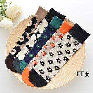2020 nouveaux enfants Fleur moyen Tube Socks Filles Corée Floral Princesse Chaussettes enfants tendance Automne genou Casual Bas S292