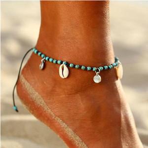 S1573 Bohemian Fashion Jewelry Shell Beads Anklets Summer Beach Barefoot Ankle Bracelet Handmade Shell Ankle Bracelet