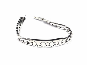 High Quality Sterling Silver 925 Chain Bracelet Elf Skull Top Bracelet for Unisex Bracelets silver Fashion Accessories Supply