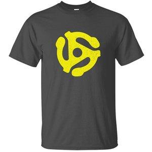 Impression vinyle Slogan - Adaptateur 45 Rpm Retro Dj T-shirt homme unisexe Humorous armée verte de loisirs hommes et les femmes T-shirts