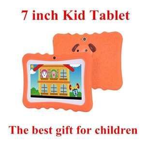 2020 Kids Brand Tablet PC 7 inch Quad Core children tablet Android 4.4 Allwinner A33 google player wifi big speaker protective cover