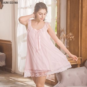 Elbise Kadın Gece Sleepwear Sleeping Yeni Modal Gecelik Yaz Kolsuz Retro Sevimli Tatlı Prenses Gecelik Seksi Ev