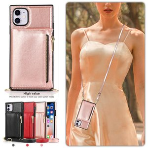 Wallet Case For iPhone11 11Pro Max With Card Holder Wrist Chain Crossbody Strap Shockproof Carrying Bag Phone Case For iPhone11 Pro Max