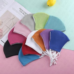 Summer Ice Towel Designer Face Mask Adult Kids Mesh Breathable Masks Solid Color Washable Cycling Sports Mouth-muffle Half Face Cover D72109