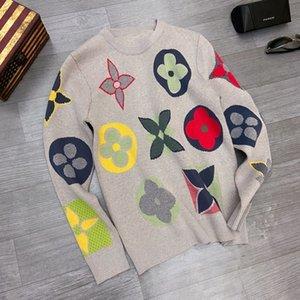 2020ss primavera e verão blusas luxo nova impressão de algodão de alta qualidade rodada blusas painel pescoço Tamanho: m-l-xl-XXL-XXXL