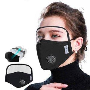 Vana 2adet 5 katmanlı filtre Açık Koruyucu maske ile Yeni yaratıcı Yetişkin çocuklar PM2.5 Shield Yüz Maskesi toz Pamuk Facemask