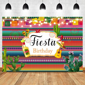 NeoBack Day of the Dead Fiesta Backdrop Mexican Fiesta Theme Photography Background Cactus Guitar Party Banner Photo Backdrops