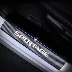 Per fibra di carbonio Kia Sportage Protector soglia della porta riflettente 4D Sticker portello della protezione del bordo di auto interno rosso Accessori auto Interio rTR3 #