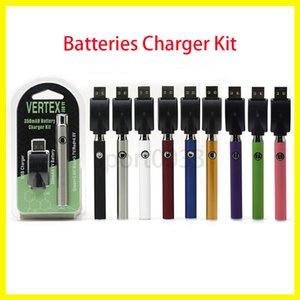 Batterie Charger Kit, preriscaldamento 350mAh VV pre tensione variabile calore mini caricatore USB CO2 Spesso olio cartucce vaporizzatore 510 O Pen BUD tocco