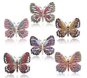 fashion Big Crystal butterfly Top Quality Silver Tone Drop Brooch Exquisite Big Diamante Jewelry Brooch Large Crystal Women Broach ps0676