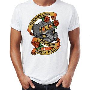 Мужская футболка Star Lord Titan убивающие Long Term Booty Call Удивительная Работа Printed Tee