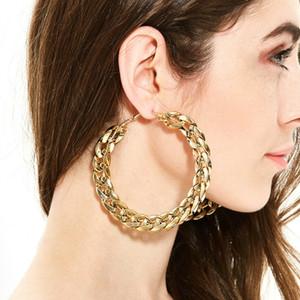 Exaggeration Kreolen große Kreis-Ohrring-Basketball Brincos Partei Schleife CCB Ohrringe für Frauen UV Schmuck Grün 80MM