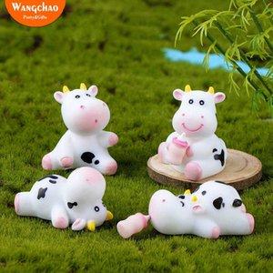 8pcs / set Belle bouteille mignon Dairy du lait de vache Joyeux anniversaire forme de gâteau enfants Favors drôle de célébration gâteau Décoration IZGI #