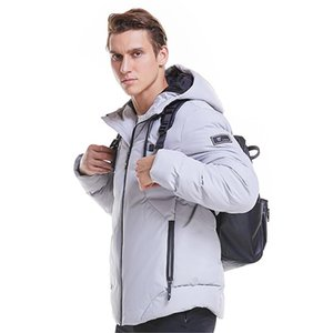 2020 Men Winter Outdoor USB Infrared Heating Hooded Jacket Electric Windproof Thermal Clothing Coat for Hiking Heated Jacket