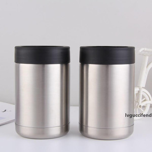 12oz Can Cooler Stainless Steel tumbler Beer Bottle Cold Keeper Can Vacuum Insulated Bottle Insulation Cans Free Shipping