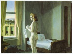 Por la mañana en la Ciudad de la mujer desnuda Edward Hopper Home Decor pintado a mano de la impresión de HD pintura al óleo sobre lienzo de arte cuadros de la pared de lona 200802