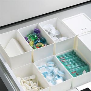 Bureau Organisateur de stockage Support de bureau Boîte de maquillage tiroir de rangement de bureau Gain d'espace comestics Boîte avec couvercle yq02166