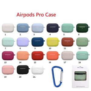 Airpods 3 프로 실리콘 케이스 소프트 울트라 씬 수호자 에어 팟 커버 이어폰 케이스 안티 - 드롭 Earpods 의류 후크 소매 패키지와 함께