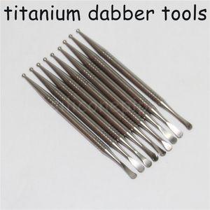 Venta al por mayor clavo de la alta calidad Gr2 titanio aceite Dabber cera de petróleo Selector por fumar vapor cucharada de Ti contenido del 99% de Ti Dabber Herramientas