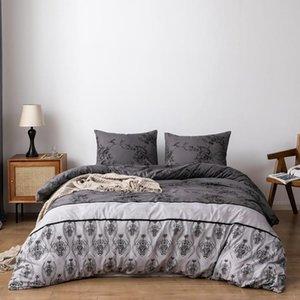 Bonenjoy Quilt Cover nera copriletto per gli adulti stampato reattivo piumino e cuscino Sham dekbedovertrek doppio copripiumini